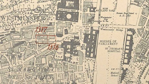 20th century London maps banner - London Mayfair Square (CC.5.a.555.)