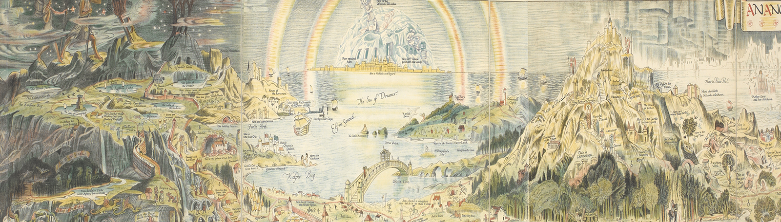 Popular culture banner - An ancient mappe of Fairyland