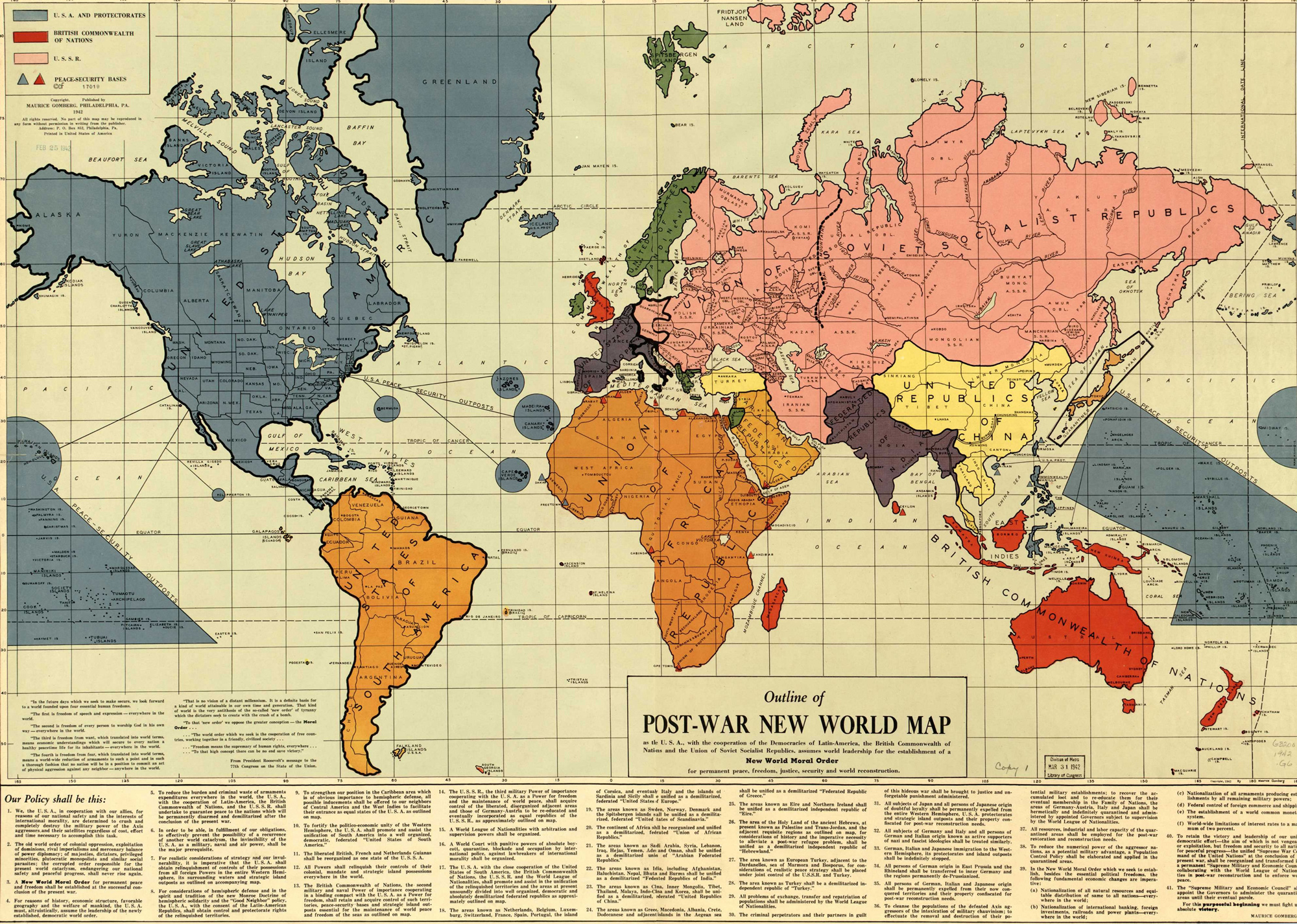 Outline of Post-War New World Map  (Maps C.49.e.56)