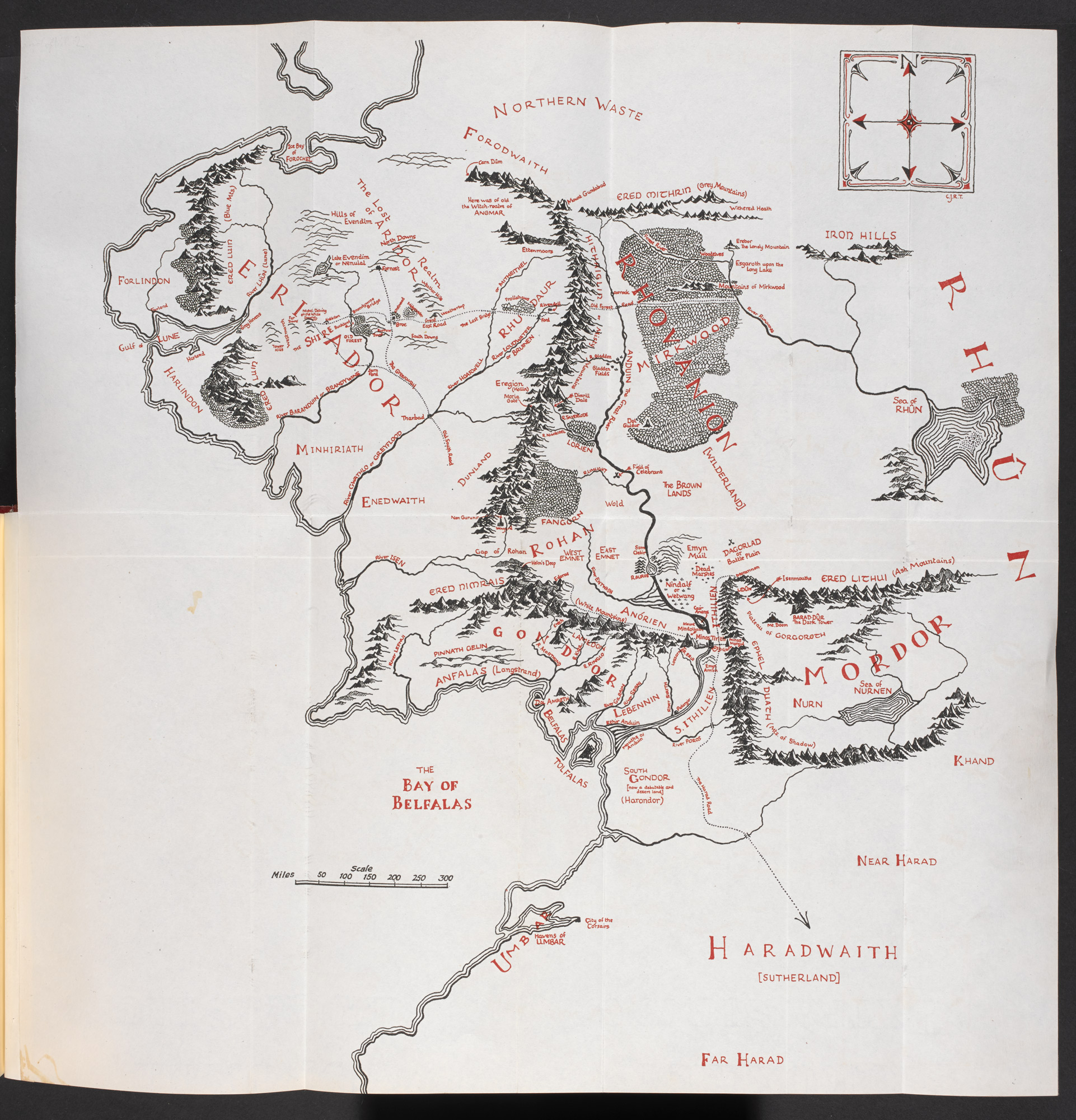 Lord Of The Rings Online World Map.Map Of The Middle Earth The British Library