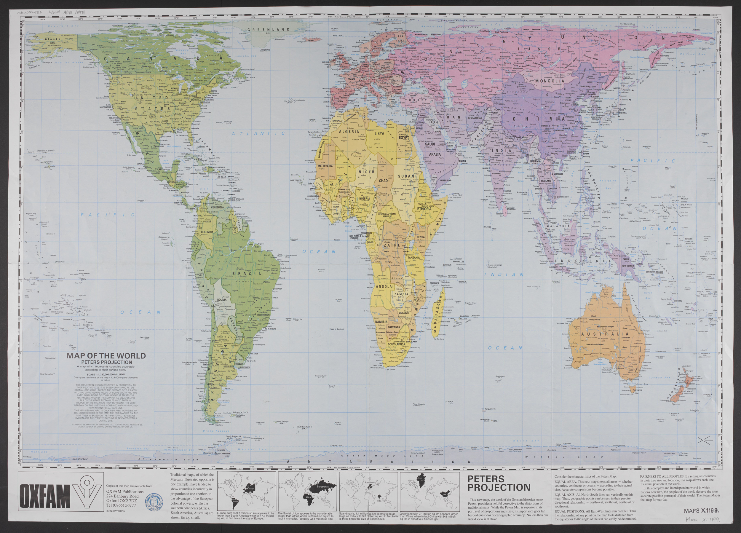 Map of the world - Peters projection (Maps X.1199)