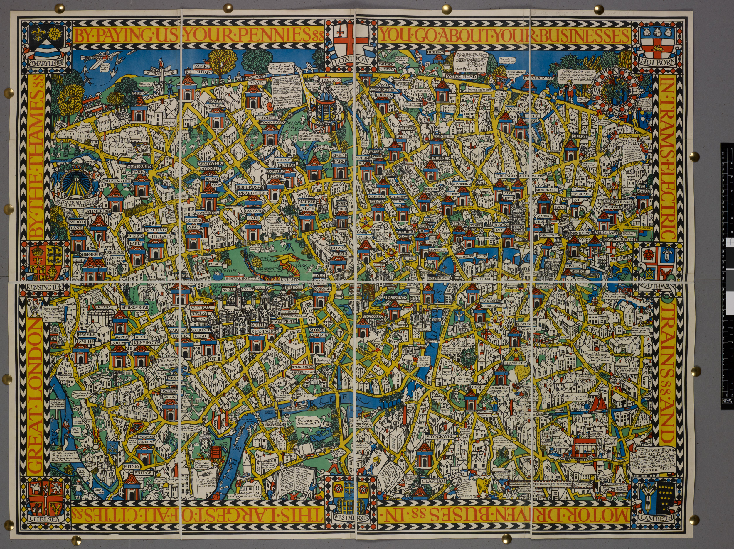 Map F London.Wonderground Map Of London The British Library