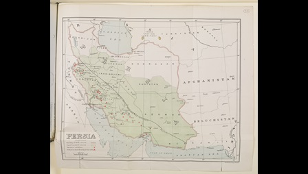 Map of Persia showing oil sites
