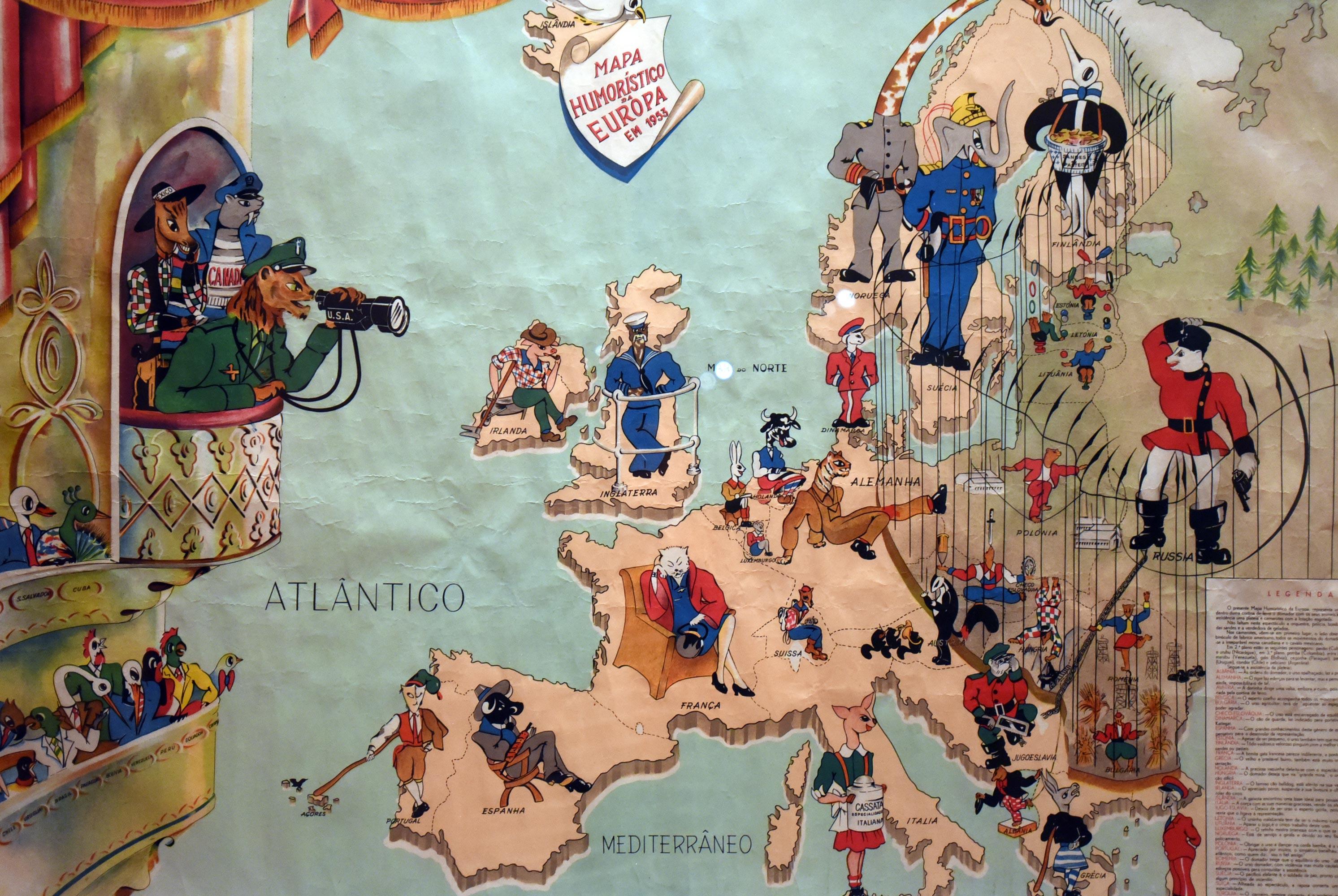 Mapa Humoristico da Europa en 1953