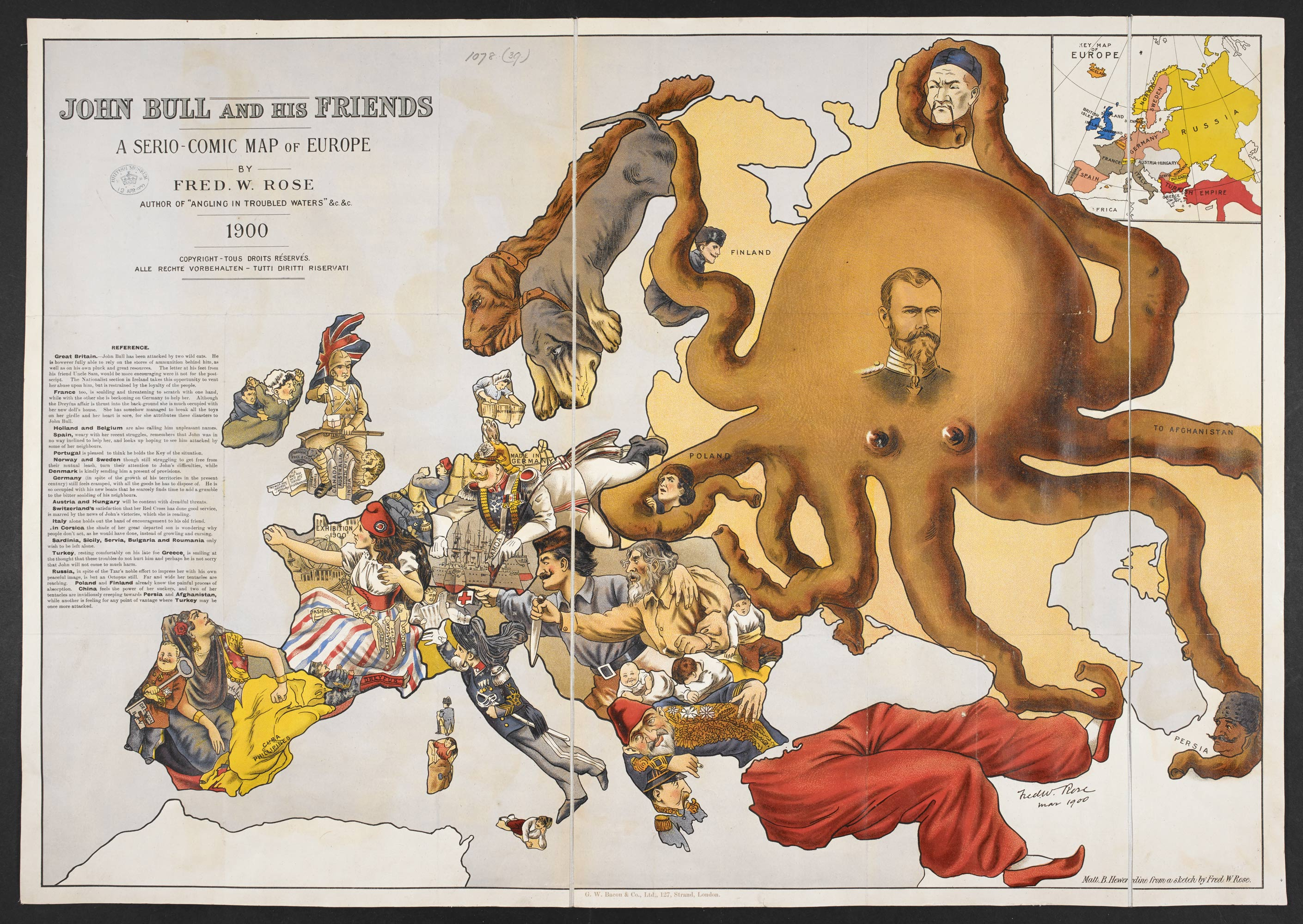 John Bull And His Friends A Serio Comic Map Of Europe The British