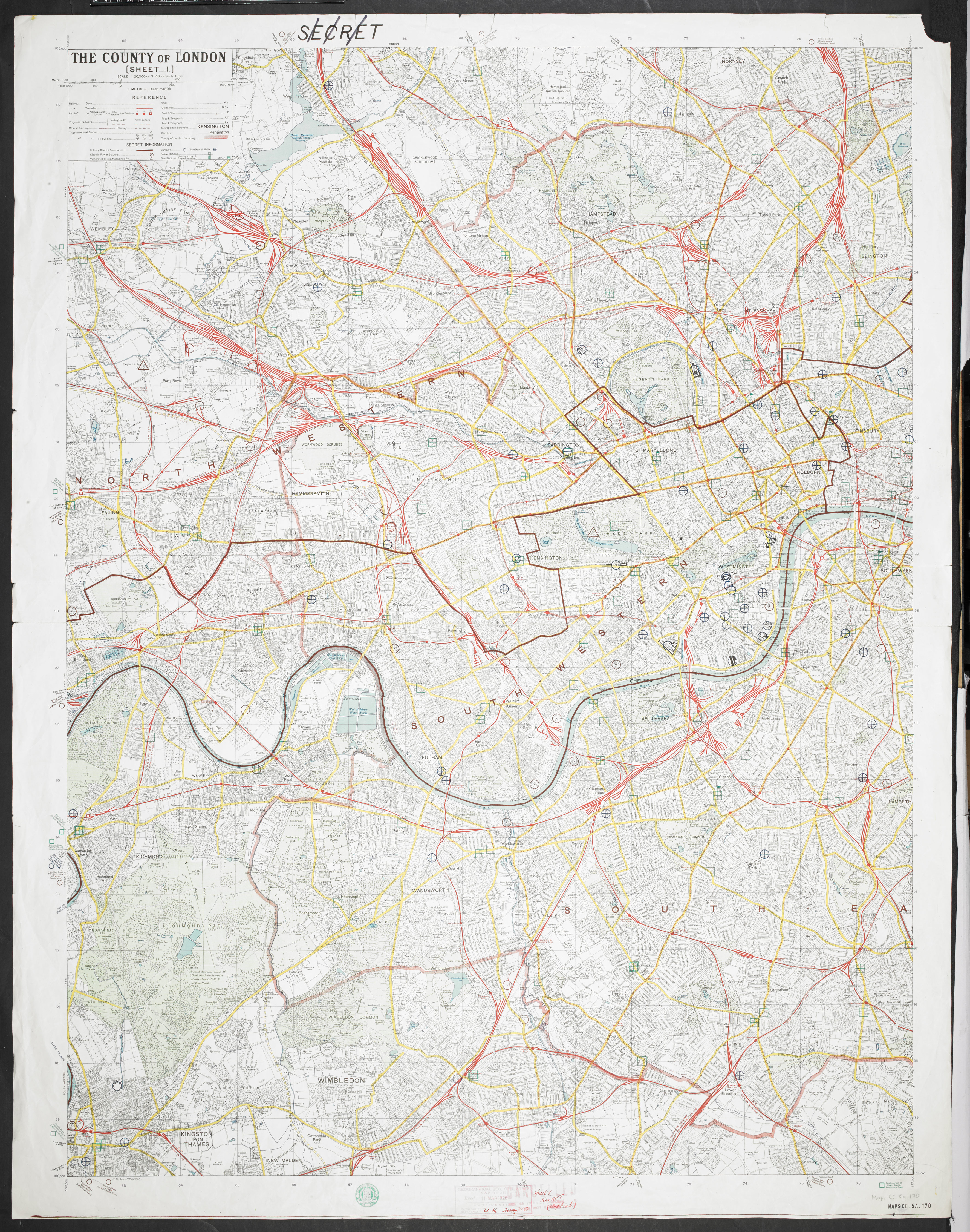 The county of London, GSGS. no. 3786A (Maps CC.5.a.170.)