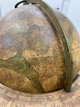 Closeup of globe