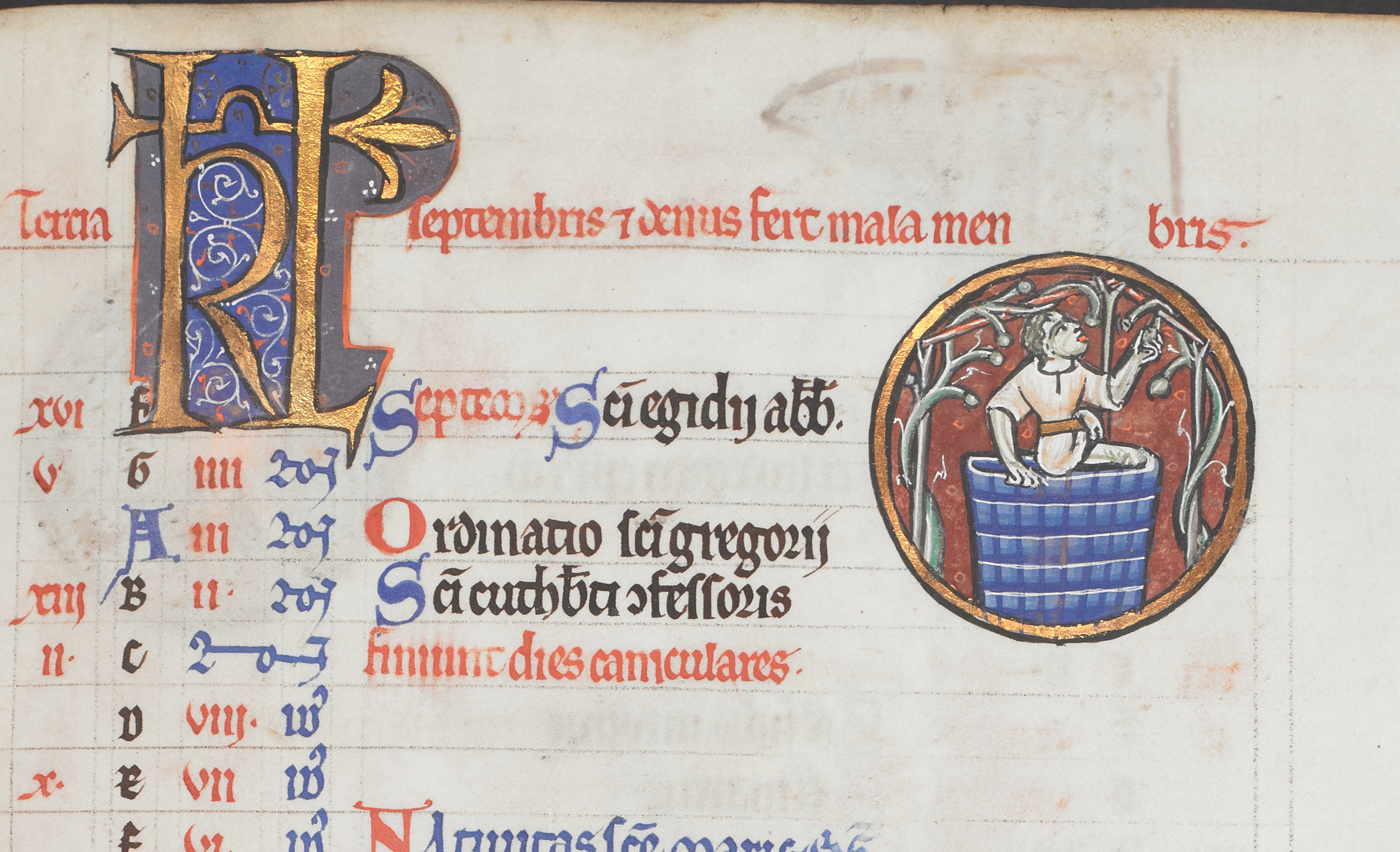 Calendrier Fetes Medievales.Calendriers Medievaux The British Library