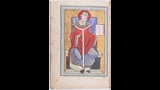 An author portrait of St Gregory the Great, from a 12th-century collection of his letters.