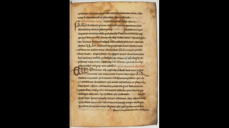A text page from a 9th-century manuscript of St Jerome's Commentary on Isaiah.