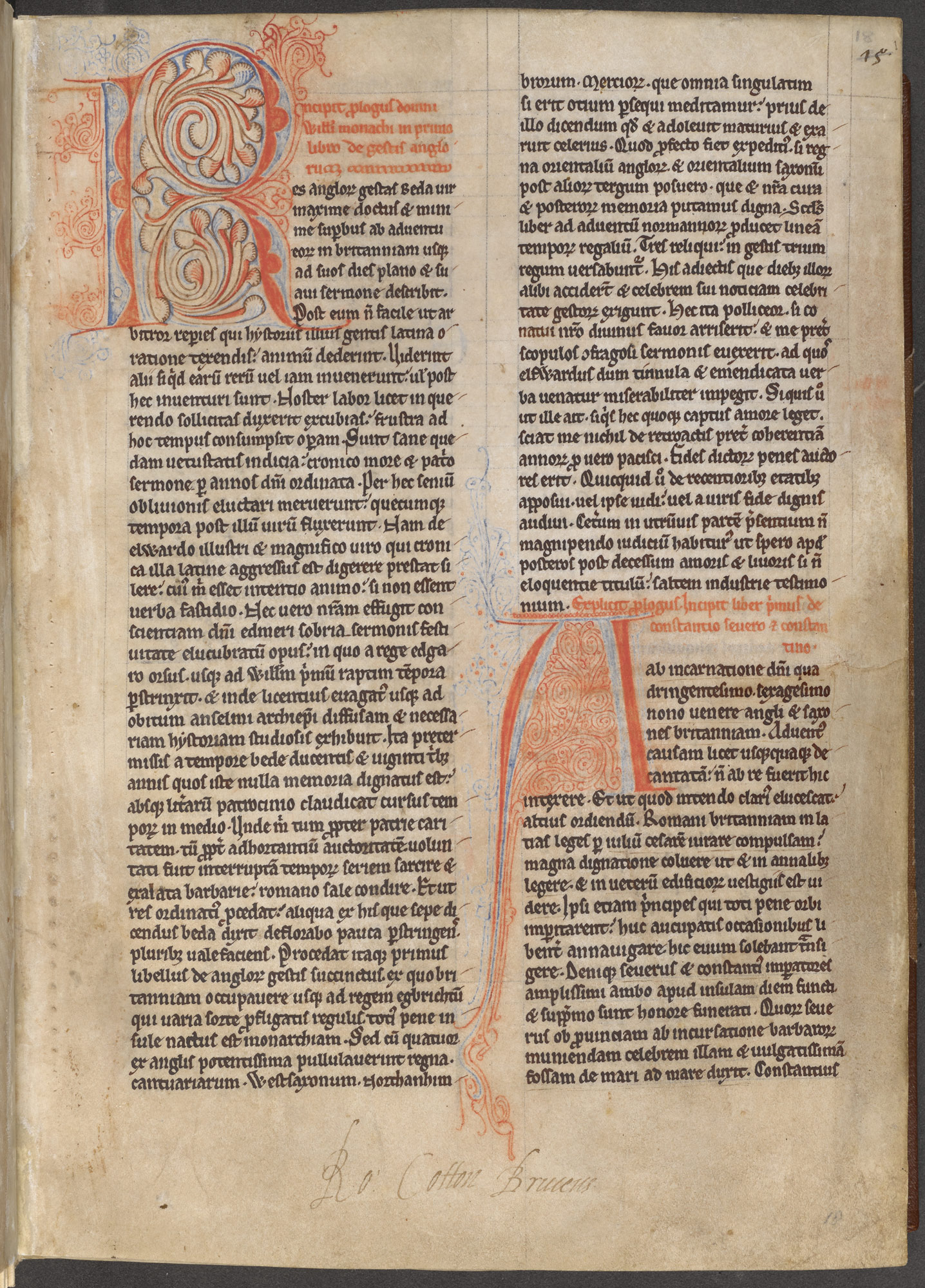 Cotton MS Claudius C IX, f. 18r