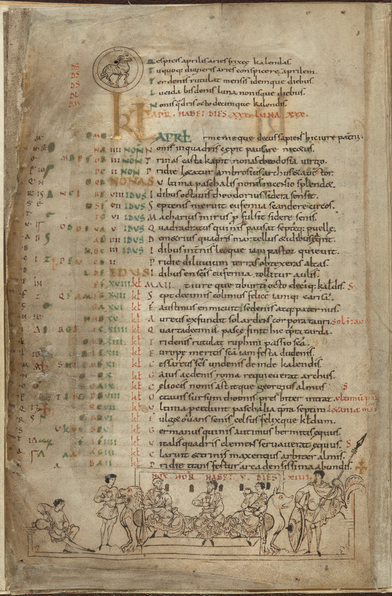 Cotton MS Julius A VI, f. 4v