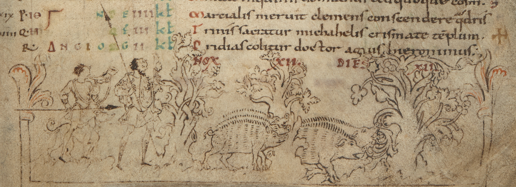 Cotton MS Julius A VI, f. 7r detail