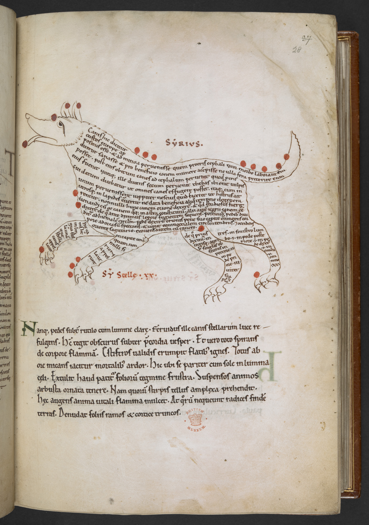 Cotton MS Tiberius C I, f. 28r