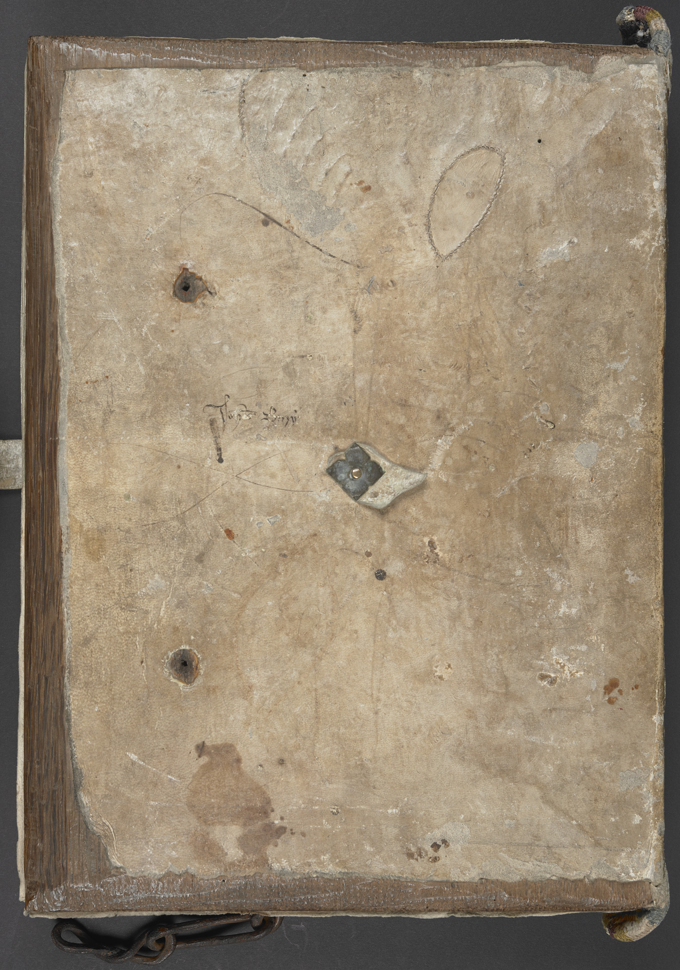 Egerton MS 3776, back cover
