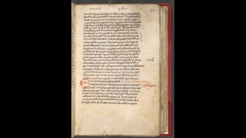 A text page from a 12th-century collection of Anselm of Canterbury's theological treatises.