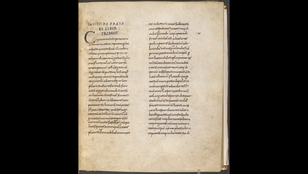 The opening page of a 9th-century copy of Cicero's De Oratore.