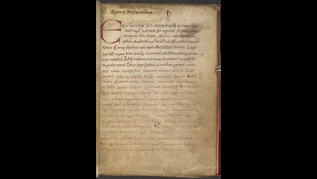 The opening of a 12th-century copy of William of Jumièges' Deeds of the Norman Dukes.