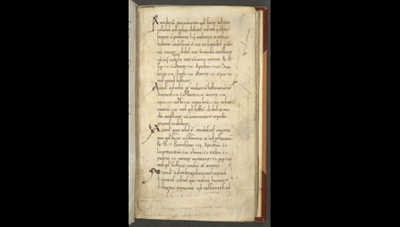A text page from an 11th-century collection of medical recipes.
