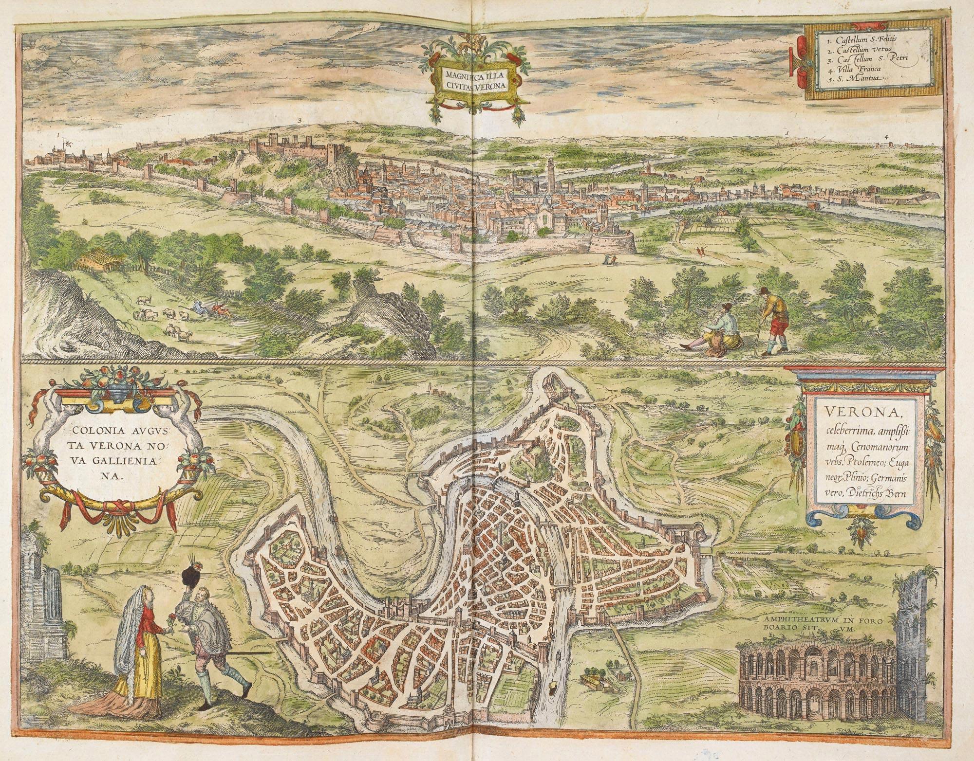 View of Verona in Civitates Orbis Terrarum