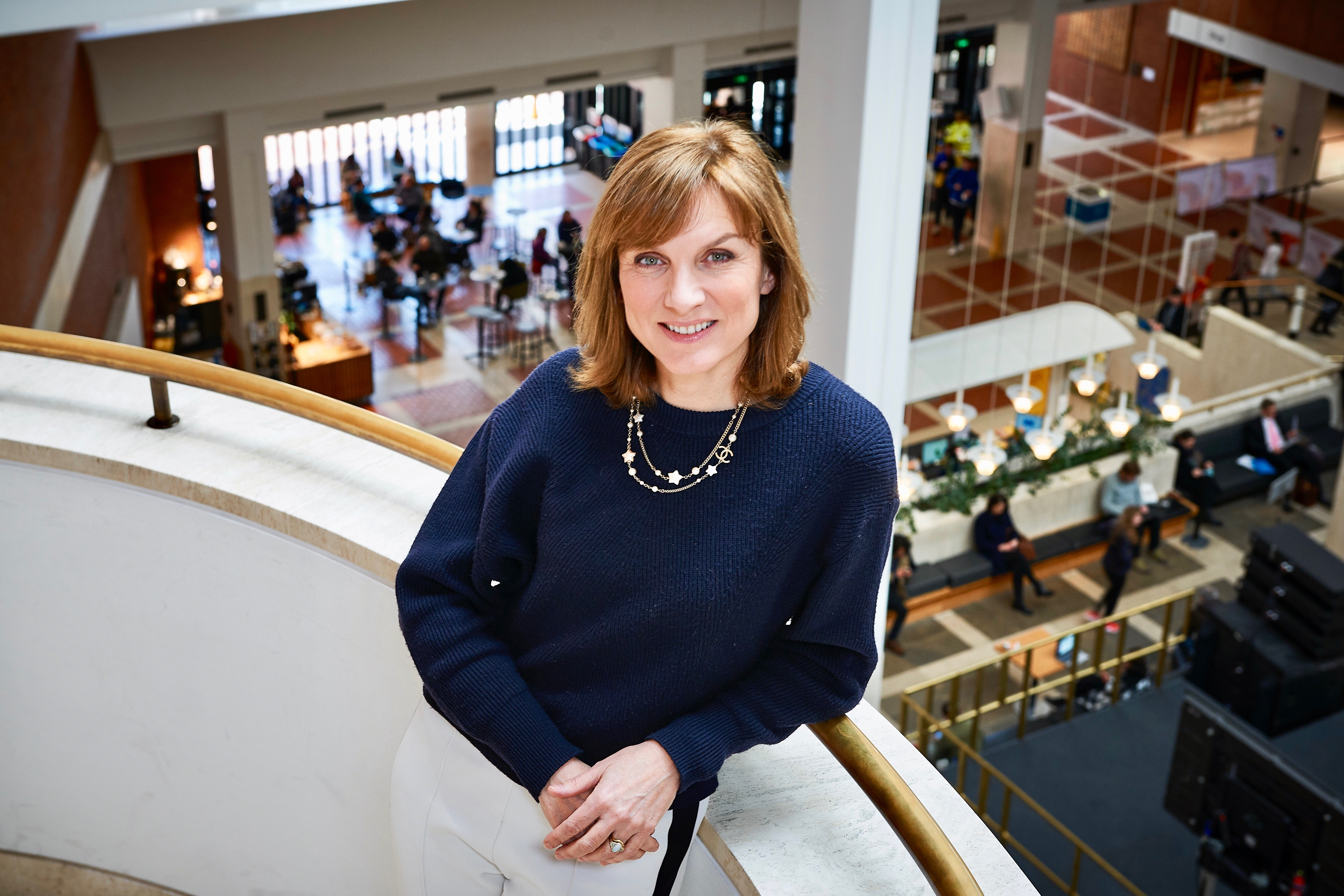 Fiona Bruce at the British Library for Sky Arts series, Treasures of the British Library, (c) Nutshell