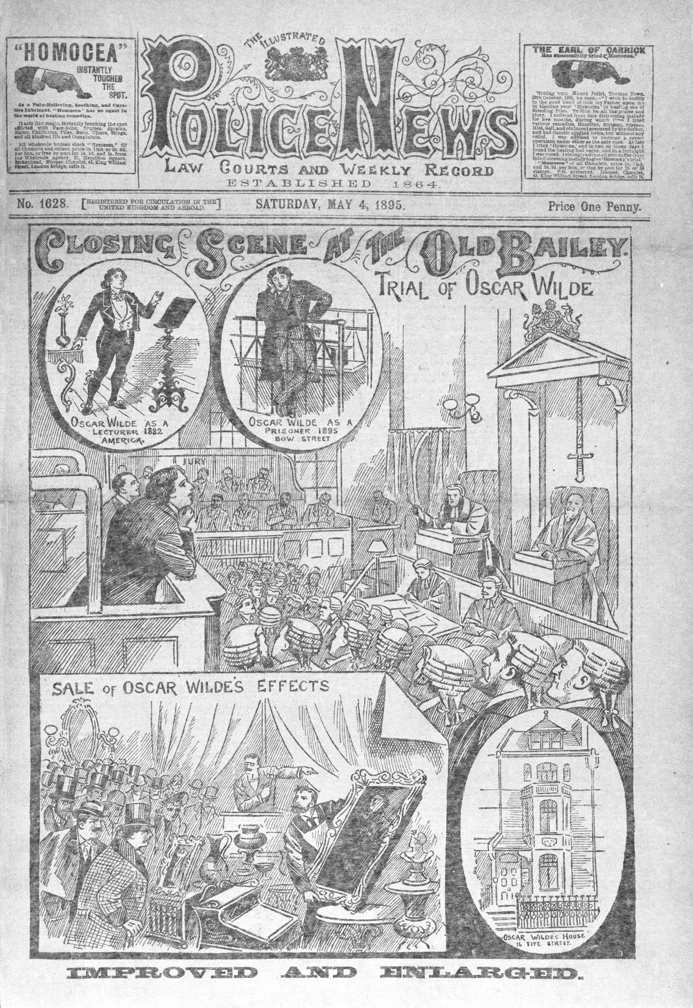 Coverage of Oscar Wilde trial