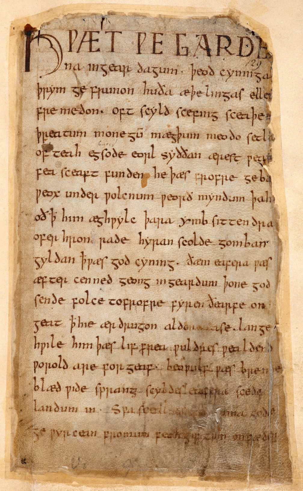 Beowulf manuscript from the Cotton collection