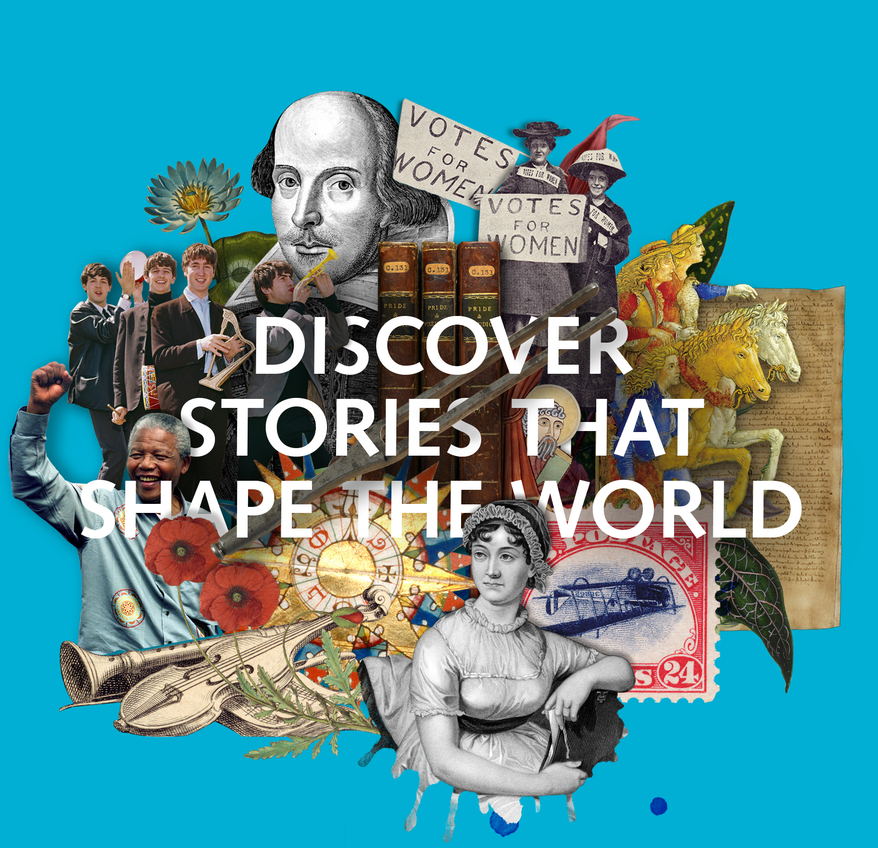 Discover stories that shape the world in our Treasures Gallery