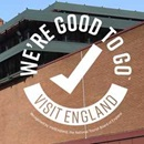 "British Library with ""We're Good to Go"" logo on it."