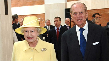 Prince Philip and the Queen at the British Library