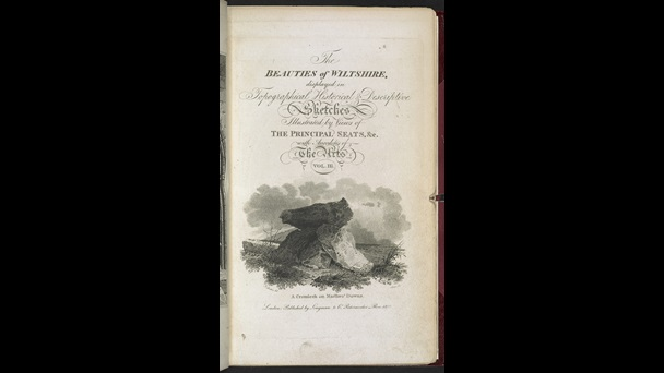 James Storer (1771-1853) after John Sell Cotman (1782-1842), A Cromlech on Marlbro' Downs, published London, 1829, as title page for John Britton (1771–1857), The Beauties of Wiltshire