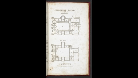 Floorplan of Burghley House, showing the Ground Floor and First Floor