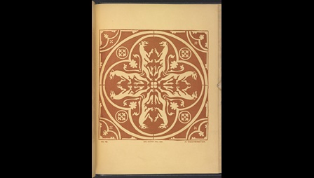 Tile from Westminster Abbey, published in Examples of Decorative Tiles by John Gough Nichols
