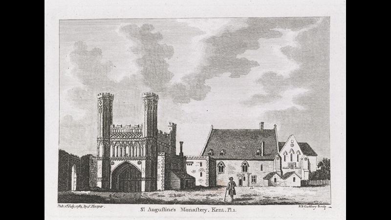 St Augustine's Abbey, Canterbury, from The Antiquities of England and Wales, vol. 3.
