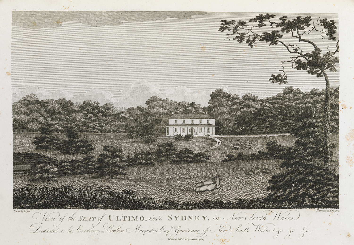 View of the SEAT of ULTIMO, near SYDNEY, in New South Wales