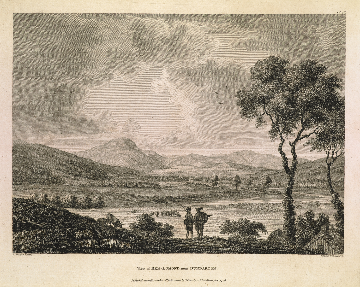 View of Ben-Lomond, near Dunbarton,