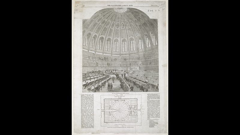 The Reading Room, 1857, medium, dimensions, published in The Illustrated London News, vol.30, 8 May 1857 (London: Illustrated London News & Sketch Ltd., 1842