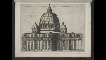 Michelangelo's design for the south elevation of St Peter's, by Giovanni Ambrogio Brambilla.