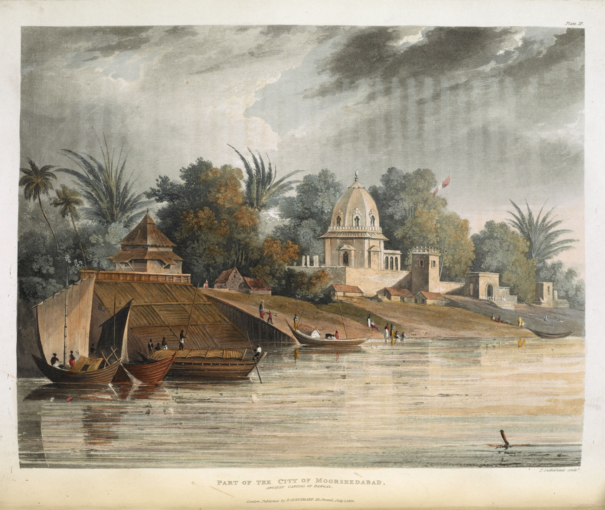 Part of the City of Moorshedabad, by Thomas Sutherland after Charles Ramus Forrest.