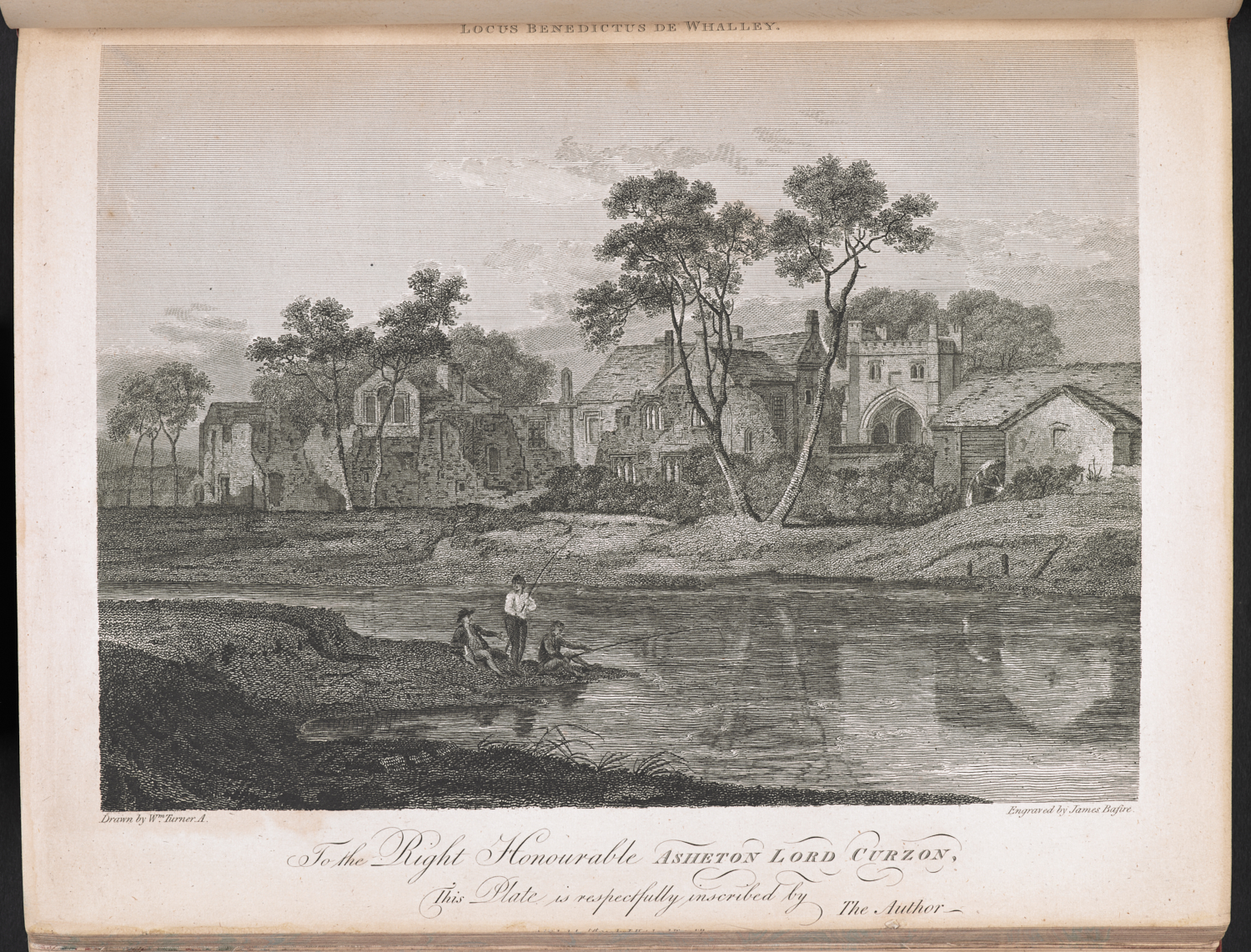 James Basire after JMW Turner Whalley Abbey (Nearer View),   plate VIII   in Thomas Dunham Whitaker History of the Original Parish of Whalley and Honour of Clitheroe in the Counties of Lancaster and York, (Blackburn, 1801), engraving, 241 x 293mm, British Library, London.