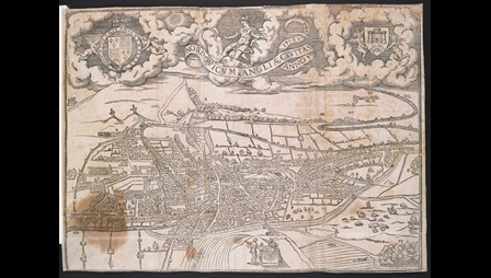 William Cuningham, Map of Norwich, published in The Cosmographical Glasse, conteinyng the pleasant Principles of Cosmographie, Geographie, Hydrographie, or Nauigation, (London: 1559)