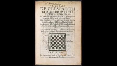 Title page of a book with Latin text and a black and white grid