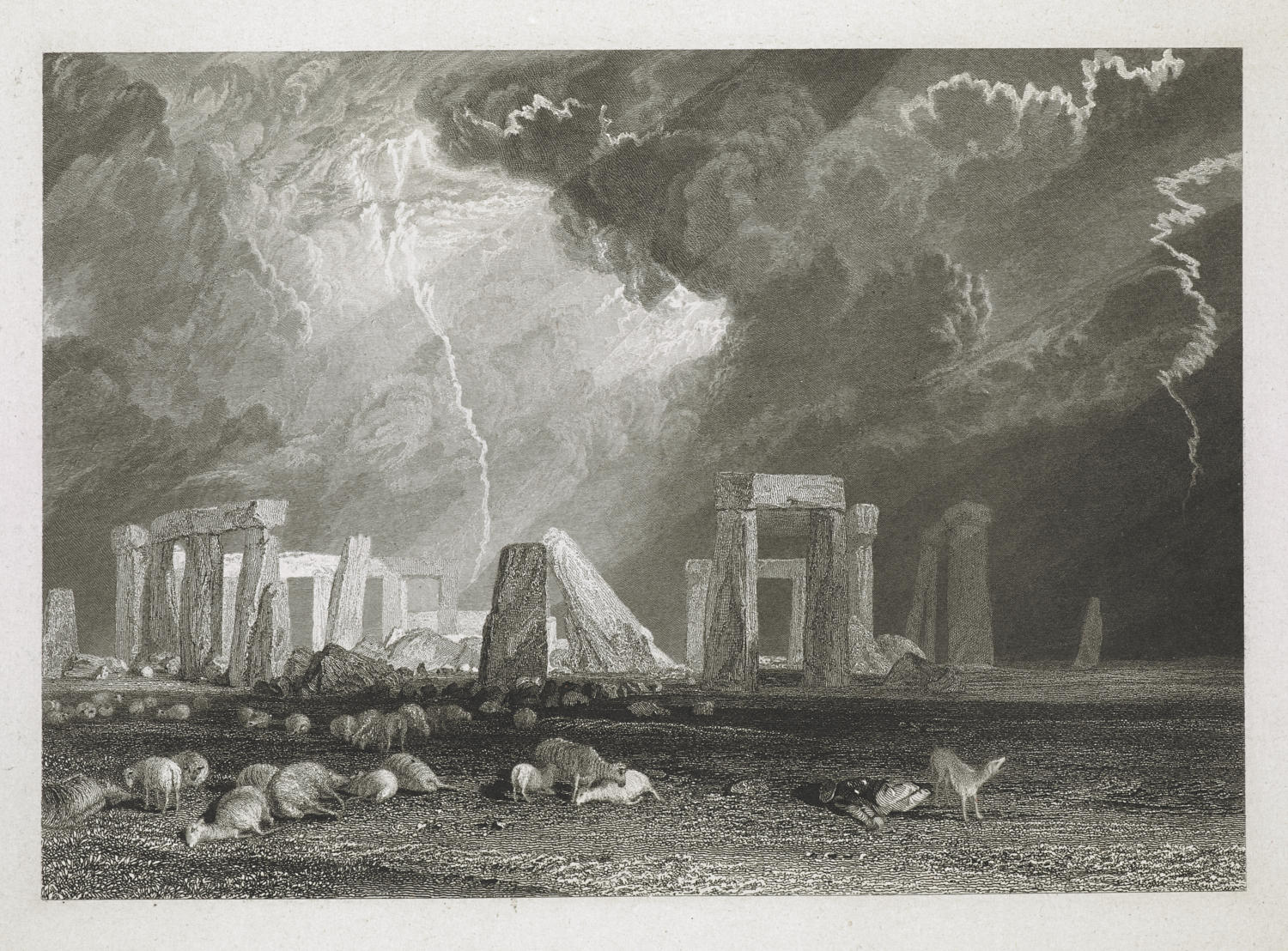 Robert William Wallis (1794-1878) after Joseph Mallord William Turner (1775-1851), Stone Henge, published London, Charles Heath (1785-1848)