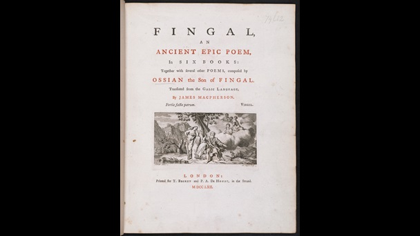 Title-page to James Macpherson, Fingal, an ancient Epic Poem