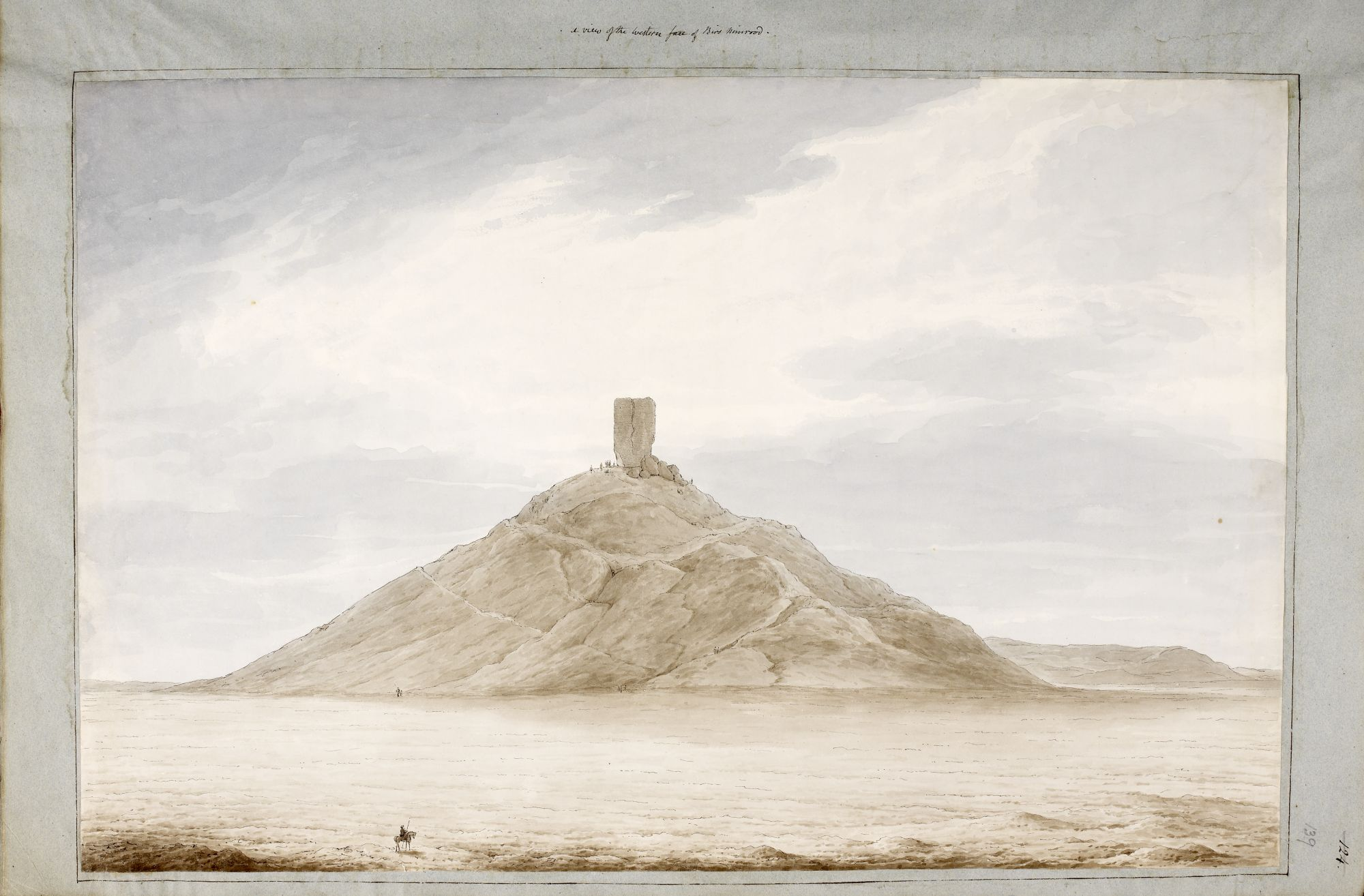 The West face of Birs Nimrood, by Sir Robert Ker Porter.