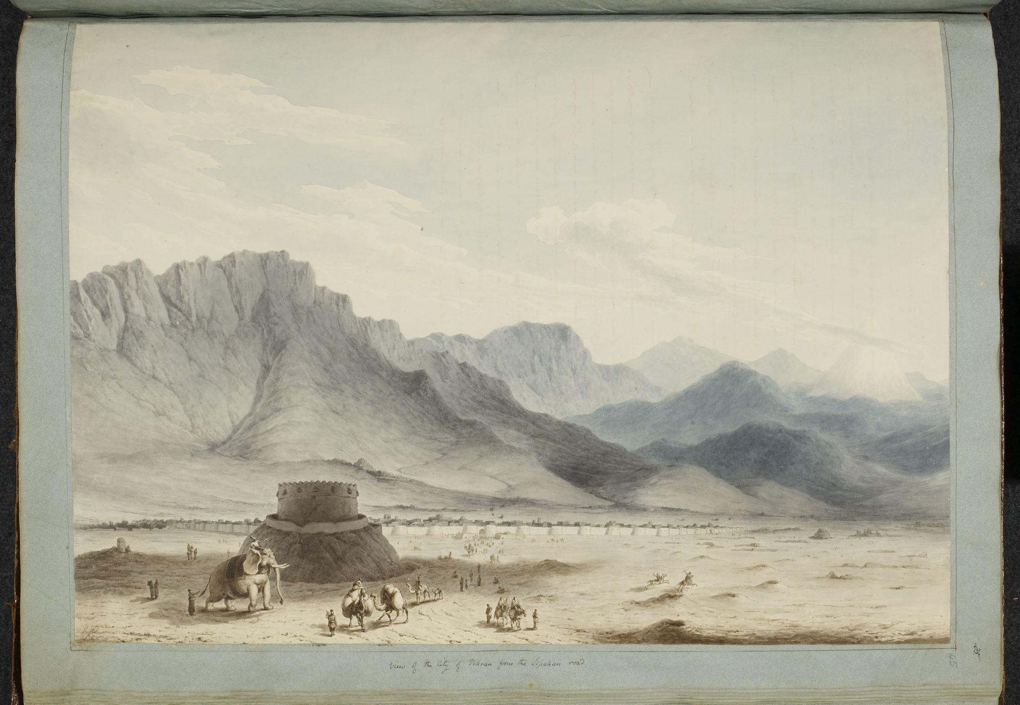 Teheran from the Isphahan road, by Sir Robert Ker Porter.