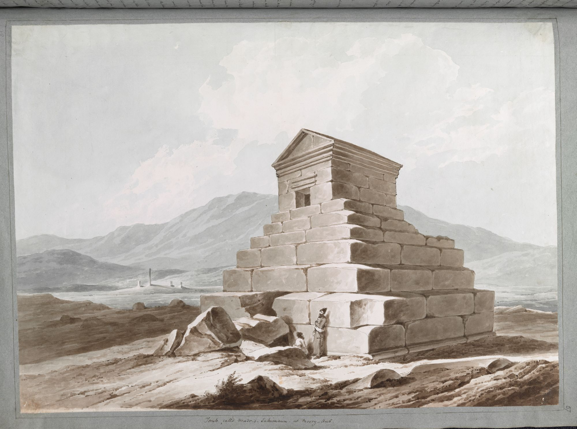 Tomb of Cyrus the Great, by Sir Robert Ker Porter.
