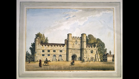 Samuel Hieronymus Grimm, The Great Gatehouse of Battle Abbey, 1780–1791, watercolour, Add. MS 5670, f.38