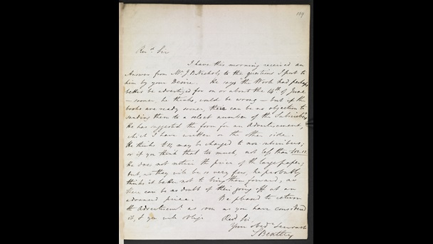 Letter to the Reverend Rogers Ruding from Samuel Bentley