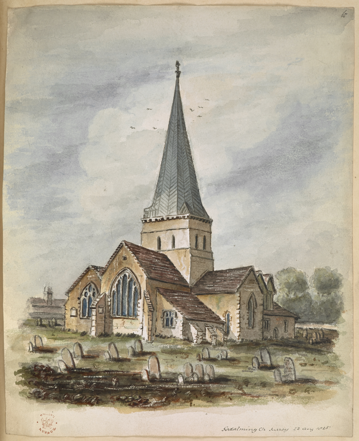 A View of Godalming Church, Surrey